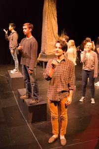 Clockwise L-R Gil Weissman, Lauren Emo, Monica Hobbs, Ali Arian Molaei, Jackson Wylder, Derek Zhou/photo by Rob Wilen