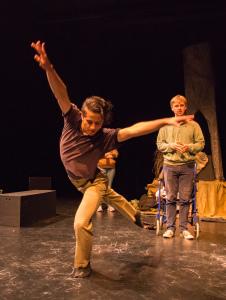 Ali Arian Molaei as Grandpa & Atticus Shaindlin as Justin/photo by Rob Wilen