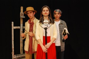 Jackson Wylder as Vincent, Alexandra Dinu as Sivvy, Shayan Hooshmand as Malik/photo Tanna Herr