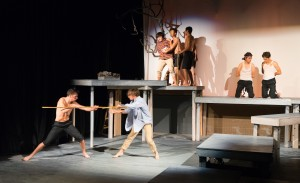 Raymónd McCarthy as Jack, Jackson Wylder as Ralph, Antonio Rojas as Piggy, Johannes de Quant as Roger, Enzo Sapojnikoff as Maurice, Gil Weissman as Sam, and David Foster as Eric/phoyo by Henry So