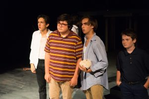 David Foster as Eric, Antonio Rojas as Piggy, Jackson Wylder as Ralph, and Noah Crawford as Percival/photo by Henry So