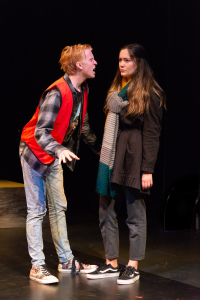 Robert Vetter as Cale & Mia Trubelja as Senna/photo by Rob Wilen