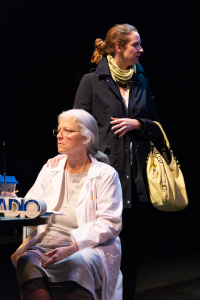 Holly Liberatore as Dr. Ma, Elizabeth McCole as Daphne/photo By Rob Wilen